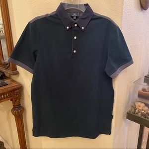 AG Green Label Polo Color Block Top Size Small